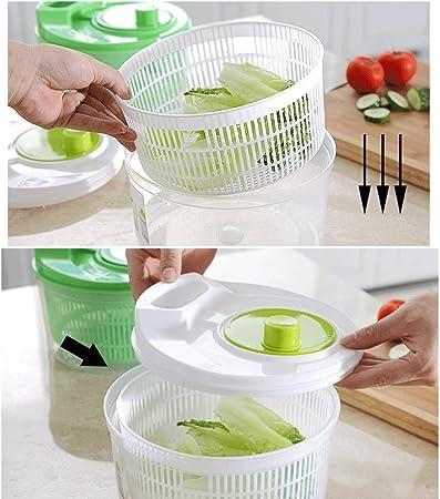 Essoreuse à Salade en Plastique en 2 Couleurs