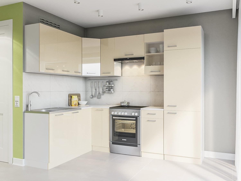 Eldorado de ángulo de Muebles Cocina Martha 250 x 170 + Cream Barniz L Forma de Cocina línea Esquina Cocina Block: Amazon.es: Juguetes y juegos