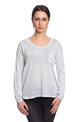 Abbino IG007 Camisas Blusas Tops para Mujer - Hecho EN Italia - Varios Colores - Transición Primavera Verano Atractivo Mujeres Femeninas Elegantes Formales Manga Larga Casual Fiesta Rebajas