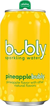 8-Pack bubly Sparkling Water, Pineapple, 12oz Cans