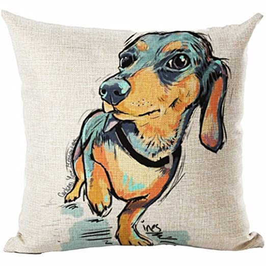 MAYUAN520 Cojines Popular Lindo Perro Mascota Arrojar Funda ...