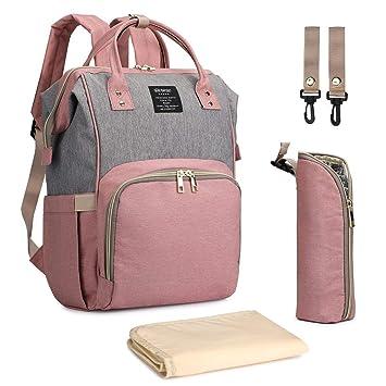 Amazon.com: Mochila para pañales de bebé, bolsa de gran ...