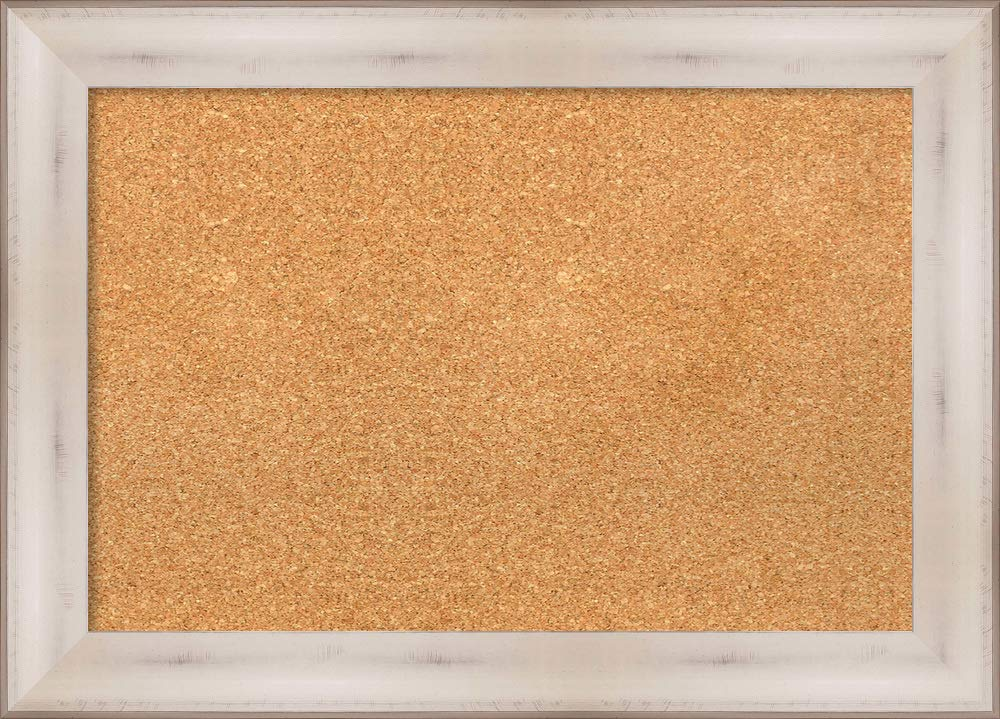 Amanti Art Natural Cork Allure White Framed Bulletin Boards, 29 x 21, by Amanti Art (Image #1)
