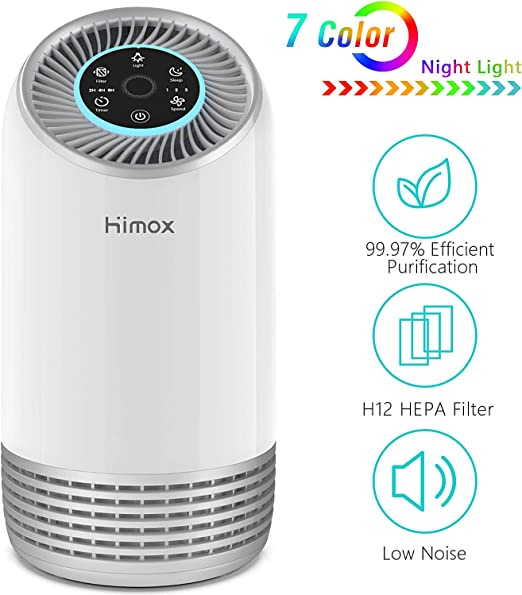 HIMOX Purificador de Aire para Alergias Filtro HEPA H12 de 7 ...