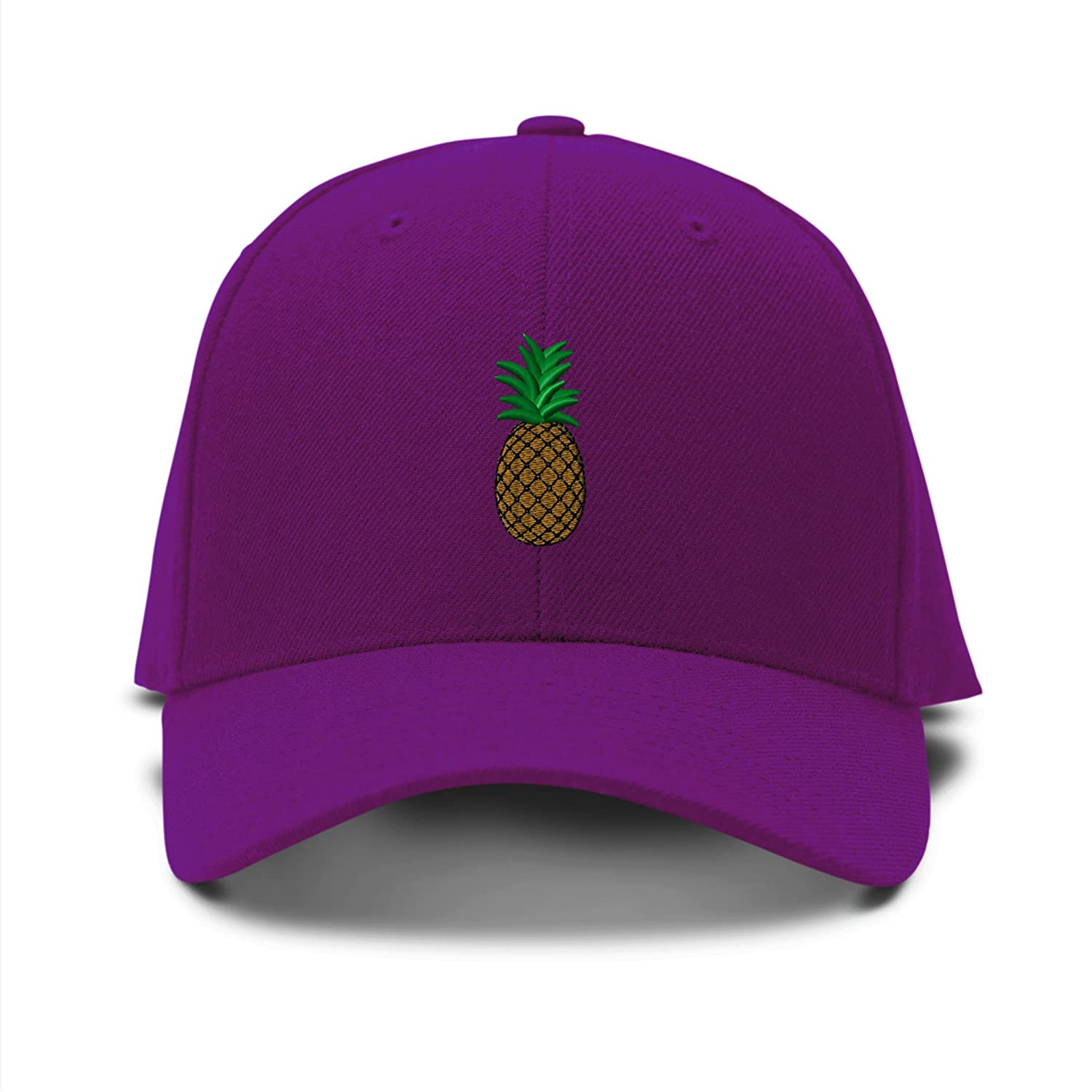 Amazon: Pineapple Embroidery Embroidered Adjustable Hat Baseball Cap  Black: Clothing