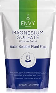 ENVY Magnesium Sulfate Plant Food - Water Soluble Epsom Salts | Fertilizer for Roses, Flowers, Shrubs, Vegetables and Trees (1.5 lbs)