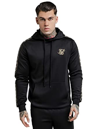 SIK SILK Mens Cartel Poly Pullover Hoodie, Black, Large at Amazon Mens Clothing store: