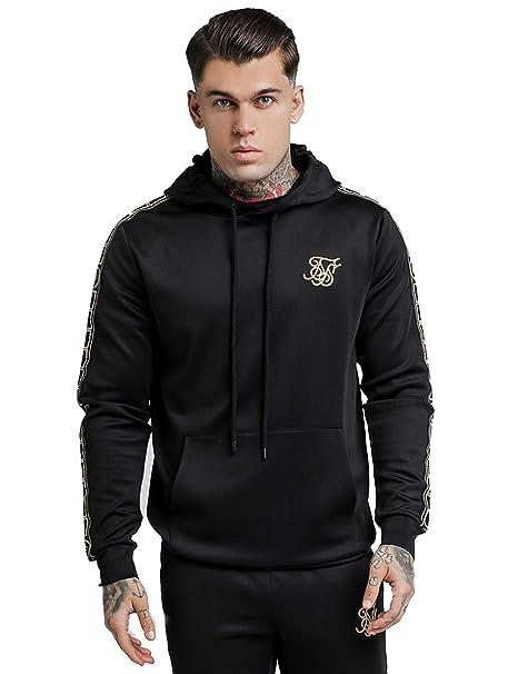 SIK SILK Mens Cartel Poly Pullover Hoodie, Black, Medium at Amazon Mens Clothing store: