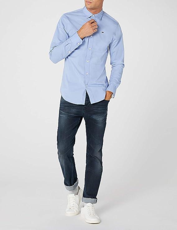Tommy Hilfiger Original Stretch Shirt Camisa para Hombre: Amazon.es: Ropa y accesorios
