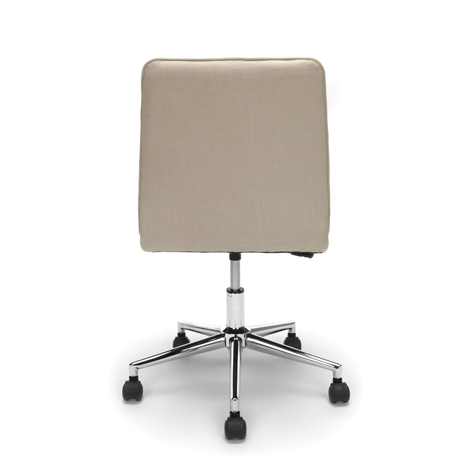 Black Essentials Leather Mid-Back Office Chair ESS-2080-BLK OFM Armless Leather Computer Chair