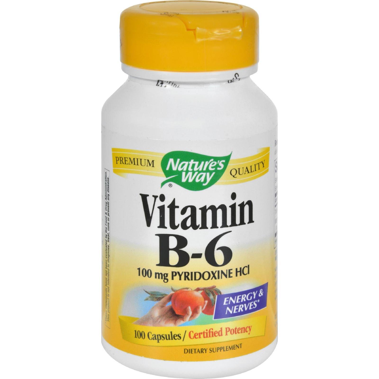 2Pack! Nature's Way Vitamin B-6 - 100 mg - 100 Capsules