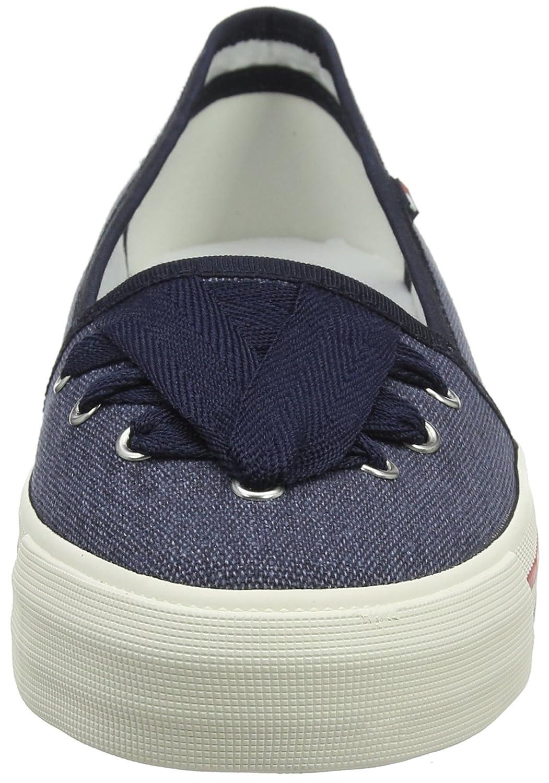 Hilfiger Denim Damen Blau Tommy Jeans Lace Sneaker Blau Damen (Midnight 403) e3bbd4