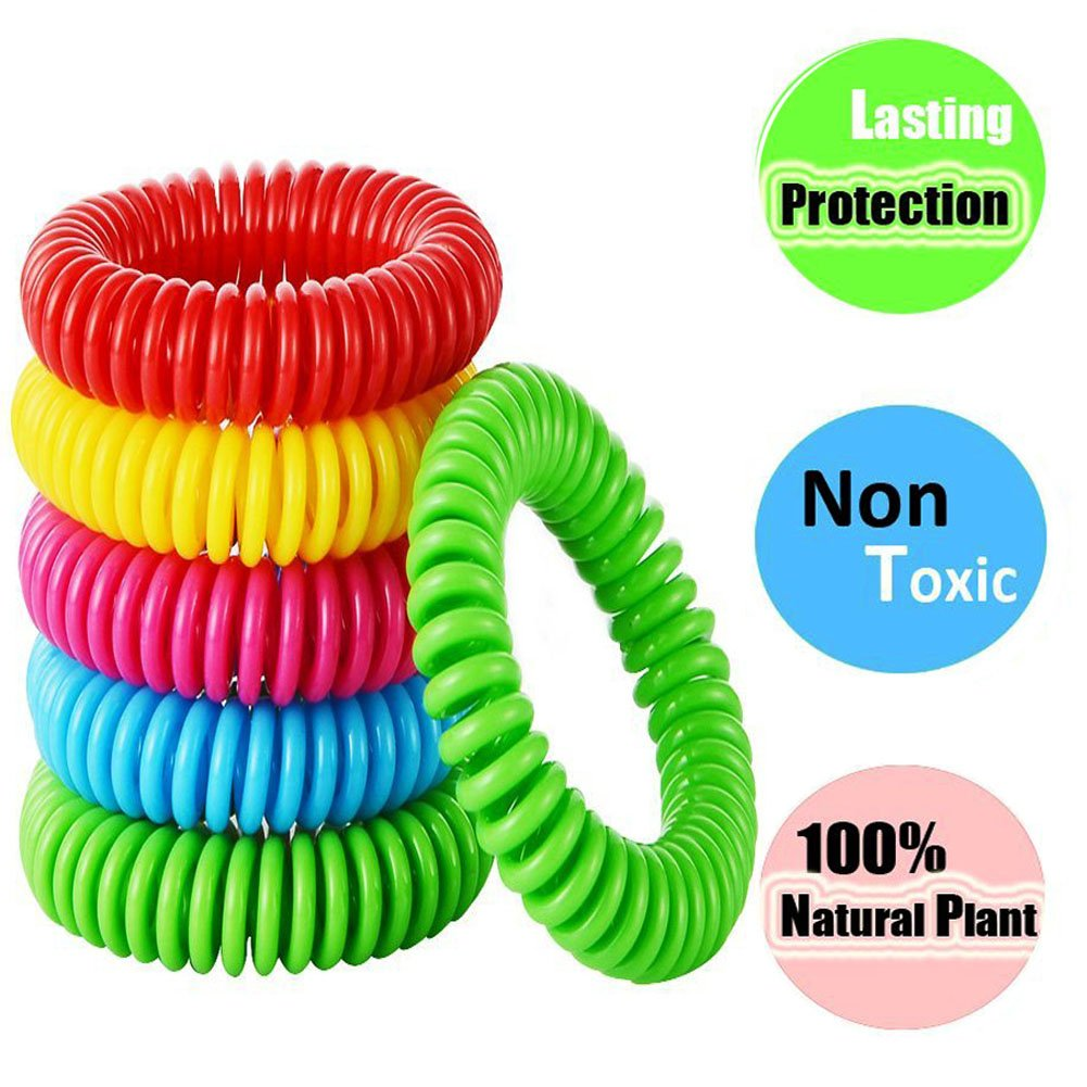 XUELIEE Pack of 15 Natural Mosquito Repellent Bracelets, 250 Hours Per Waterproof Mosquito Bracelets, Mosquito Repellent for Kids, Toddler, Adults