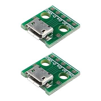 haljia Micro-USB zu DIP Adapter 5-Pin-Buchse Typ B PCB: Amazon.de ...