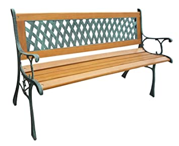 westwood 3 seater wooden slat garden bench seat lattice style cast rh amazon co uk garden bench seat pads garden bench seat ideas