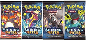 x4 Pokemon Shining Fates Booster Pack [Random Art]