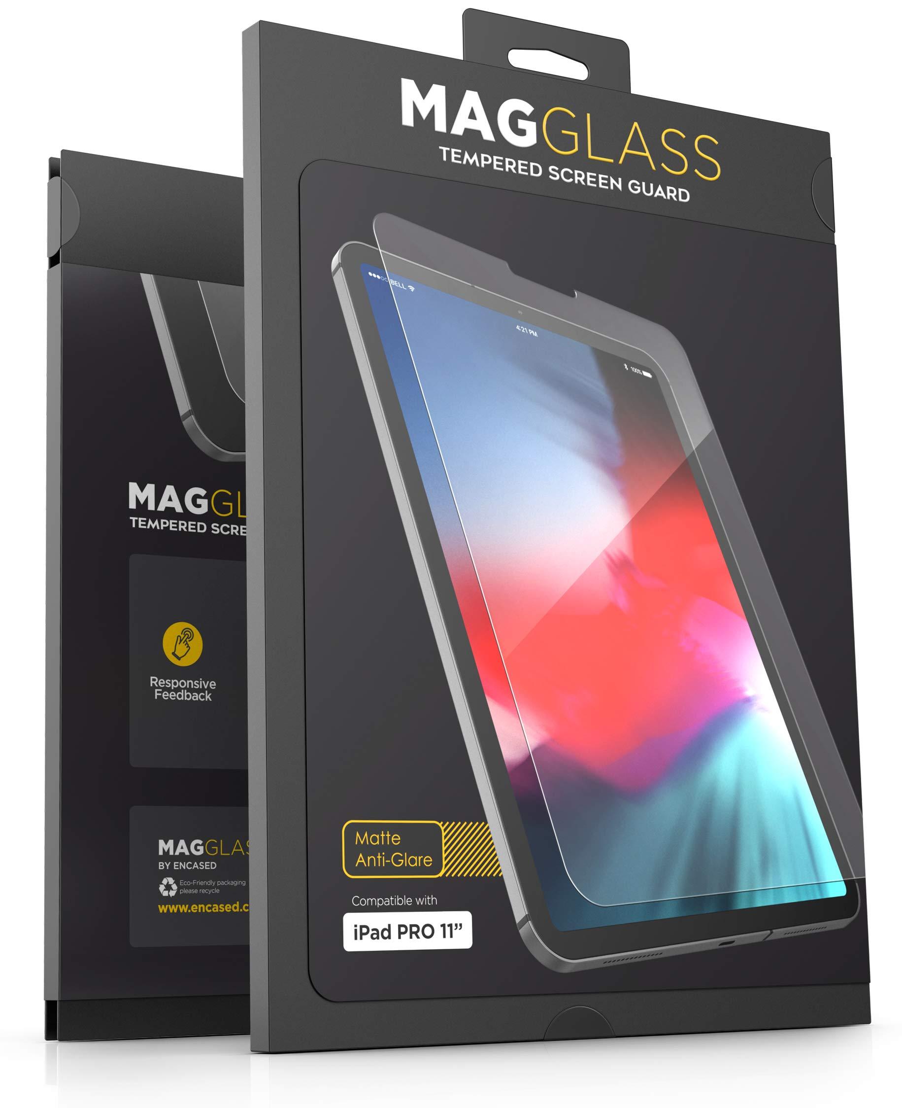 MagGlass iPad Pro 11'' Tempered Glass Matte Screen Protector - Fingerprint Resistant Anti Glare Screen Guard (Case Compatible)