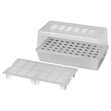 Ikea Vaxer semillero con tapa 42x23 gris