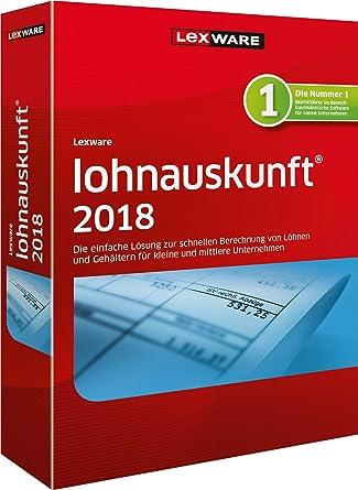 Lexware Lohnauskunft Netz 2018 Jahresversion 365 Tage Amazonde