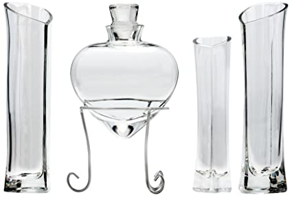 Amazon.com: Shaped Unity Sand Ceremony Set Style 8534: Home ... on decorating with vases, stones for vases, glass gems for vases, large floor vases, black decorative vases, rocks for vases, dried flowers for vases, decorative vases home accents, printed vases, wedding sand vases, decorative clear glass vases, glass pebbles for vases, sand art vases, wreath with flowers in cylinder vases,