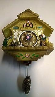Miniatur reloj de cuco | bosque negro estilo | Auto Swinging péndulo