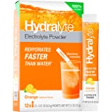 Hydralyte Electrolyte All Natural Hydration Powder Sticks, Instant Dissolve, Orange, 12 Count (Pack of 1)