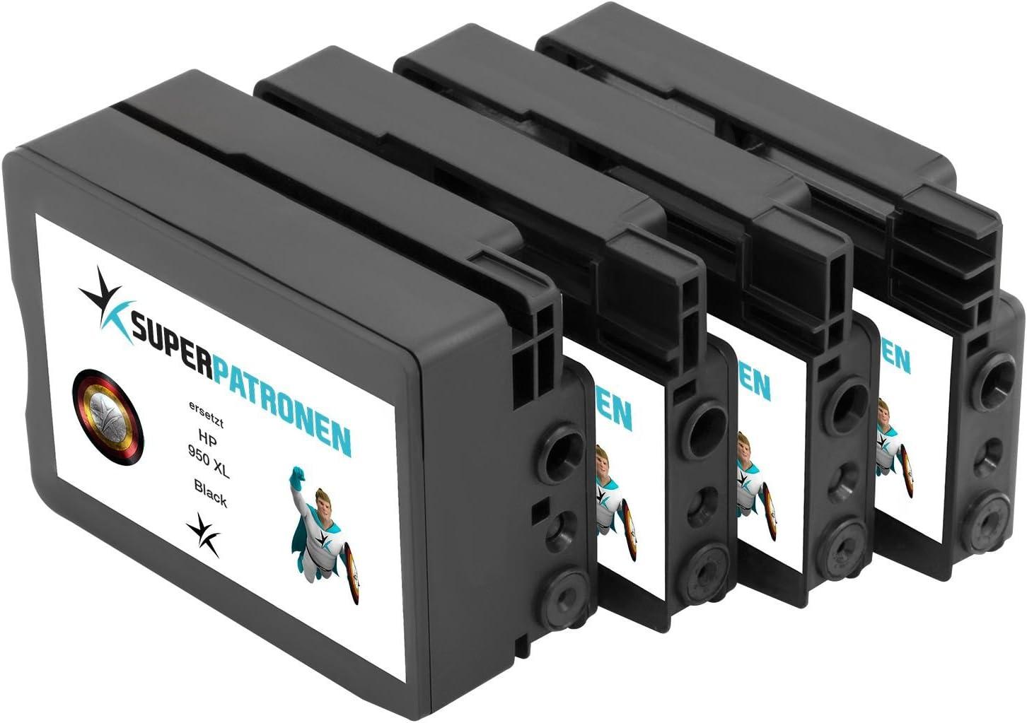 4 Xl Premium Druckerpatronen Ersetzen Original Hp 950 Xl 951 Xl C2p43ae Multipack Made In Germany Passend Für Hp Officejet Pro 251 Dw 276 Dw 8100 Eprinter 8600 8600 Plus 8600 Premium 8610 8615 8616 8620 8625 8630 8640