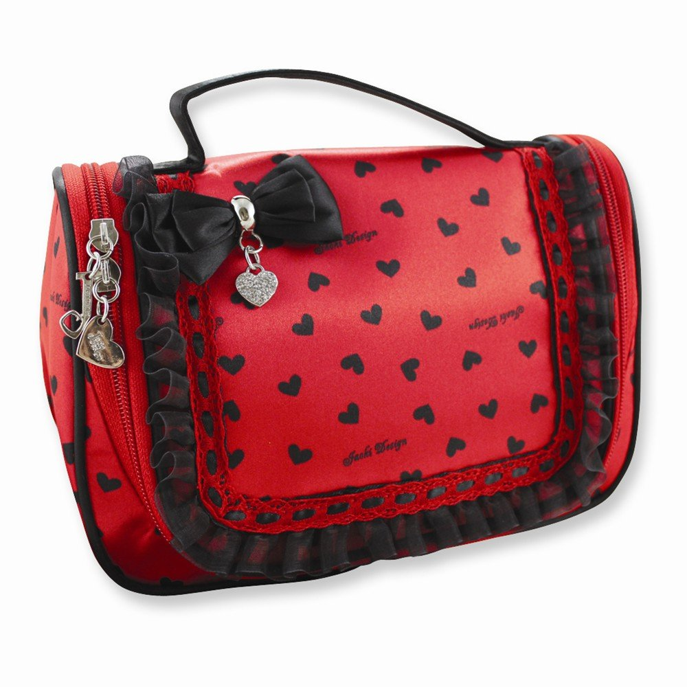 Glitzy Hearts Travel/Cosmetic Bag with Hanger