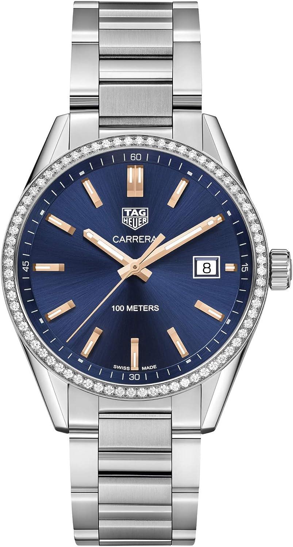 Tag Heuer Carrera WAR1114.BA0601 - Reloj para mujer con esfera azul