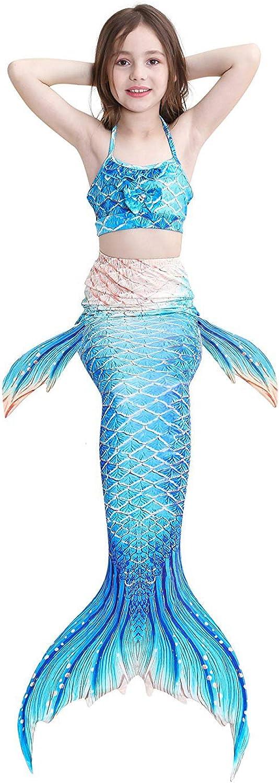 4 St/ück Decool Meerjungfrauenschwanz zum Schwimmen mit Meerjungfrau Flosse-Prinzessin Cosplay Bademode f/ür das Schwimmen mit Bikini-Set
