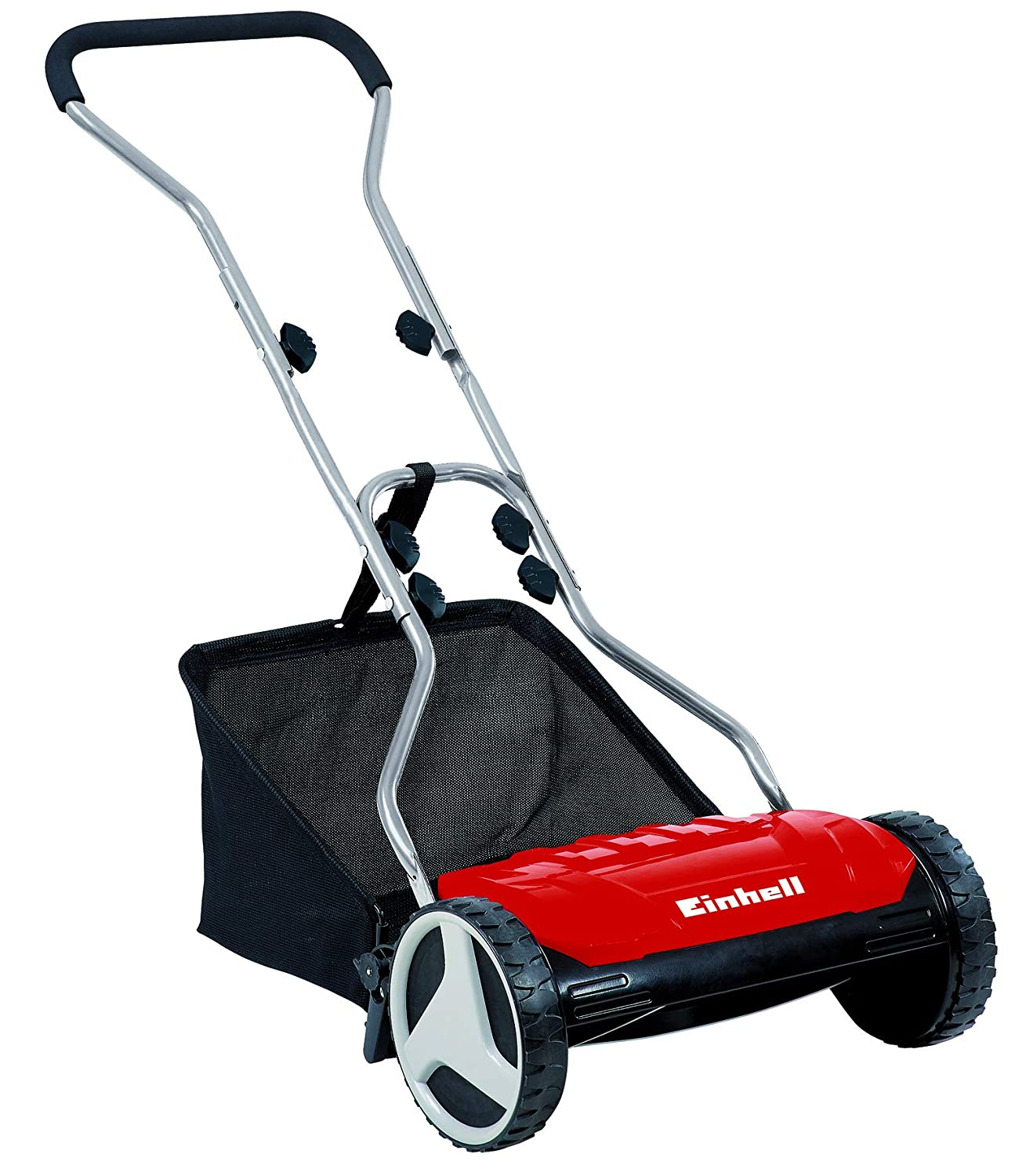 Einhell GE-HM 38 S-F Hand Push Lawnmower with 38 cm Cutting Width - Red 3414161