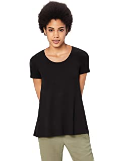 Marke Daily Ritual Damen novelty-t-shirts Jersey Short-sleeve Scoop-neck Longline T-shirt