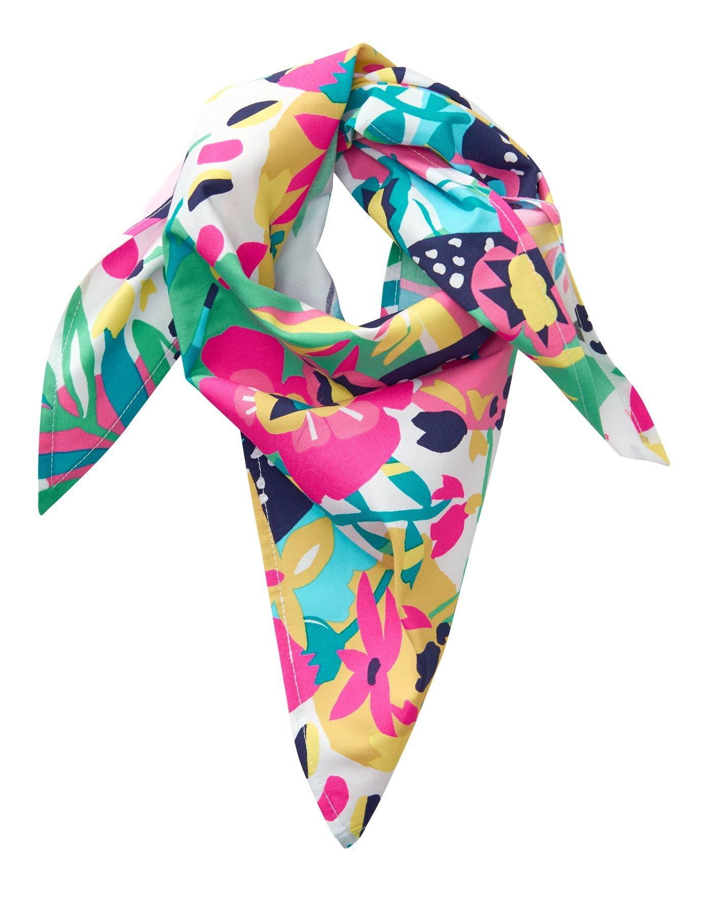 Crazy 8 Little Girls' Printed Neckerchief, Multi Floral, NS