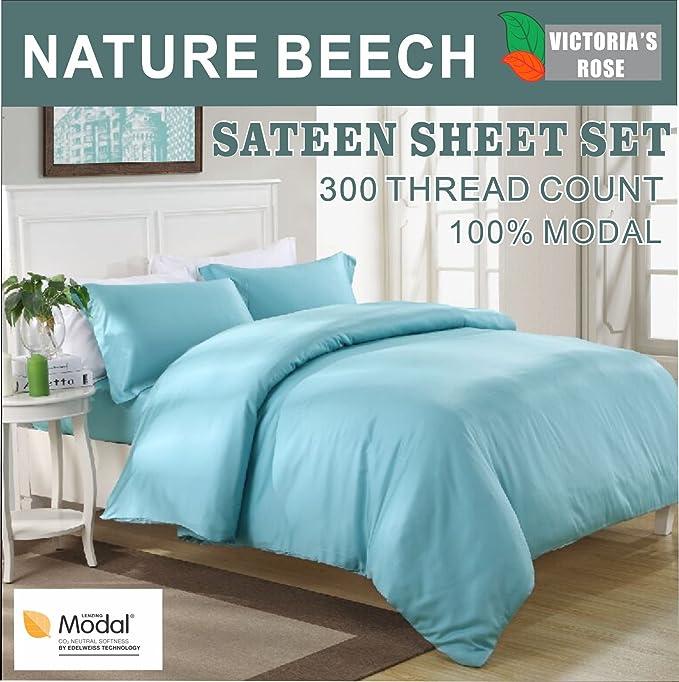 Amazon.com: Best Quality 4-Piece Bed Sheet Set Top Brand Nature Beech 100% Modal Sateen, 1 Fitted Sheet, 1 Flat Sheet, 2 Pillowcases, Queen Size: Home & ...