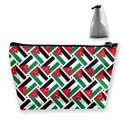 7acb74b3202b Image Unavailable. Image not available for. Color  Double Y Jordan Flag  Weave Cosmetic Bags Zipper Toiletry ...