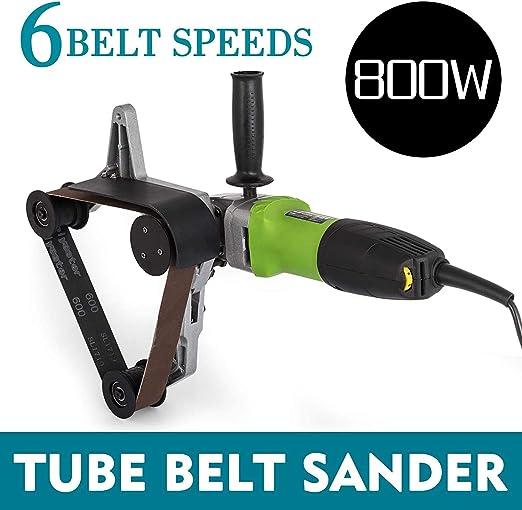 SEAAN Pipe Tube Polisher 800W Professionelle Edelstahlschleifmaschine 180mm Durchmesser Sander Polisher Grinder Professionelle Pipe Tube Belt Tube Sander
