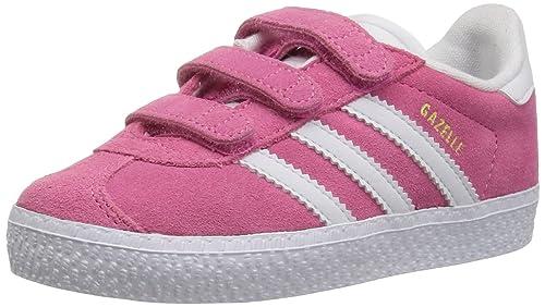 adidas Originals Baby Gazelle CF Sneaker, Whitesemi Solar