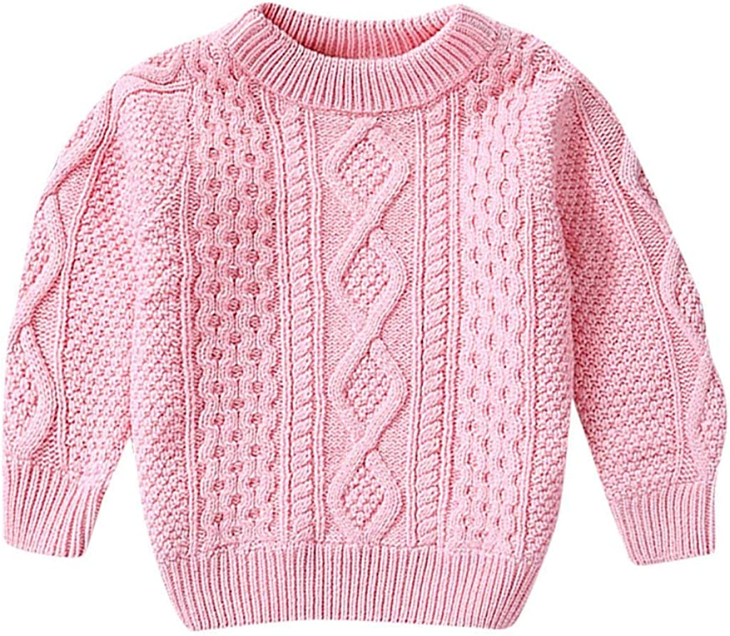 Wesracia Kids Baby Thick Solid Color Warm Pullovers Plush Sweater Knit Clothes