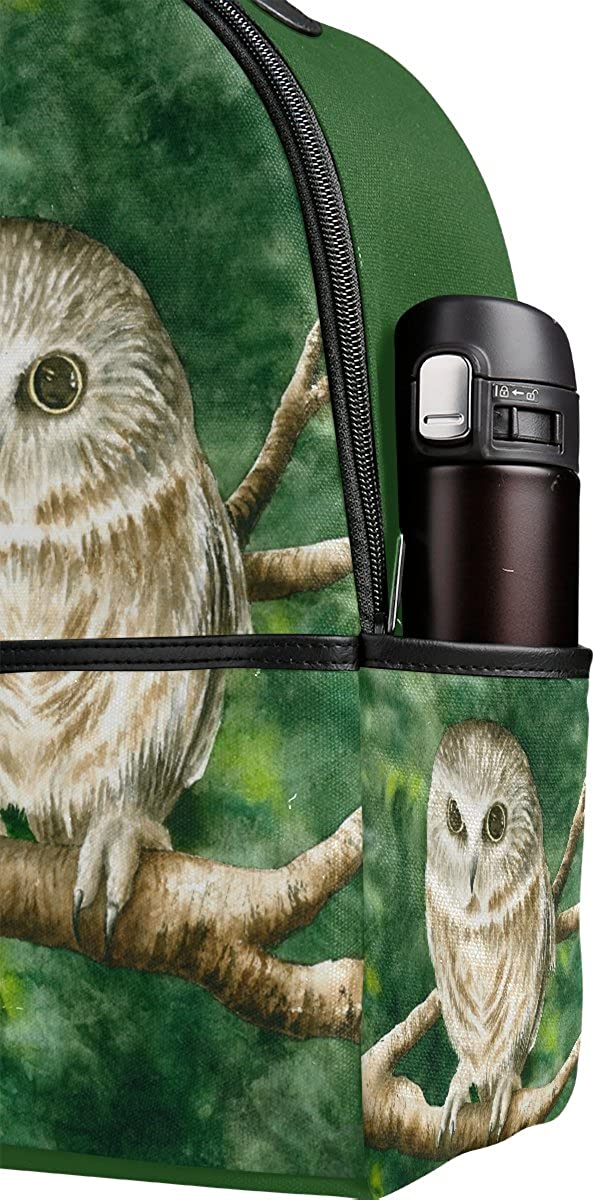Mr.Weng Owl Printed Canvas Backpack For Girl and Children