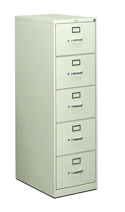 Beau HON 5 Drawer Filing Cabinet   310 Series Full Suspension Legal File Cabinet,  26