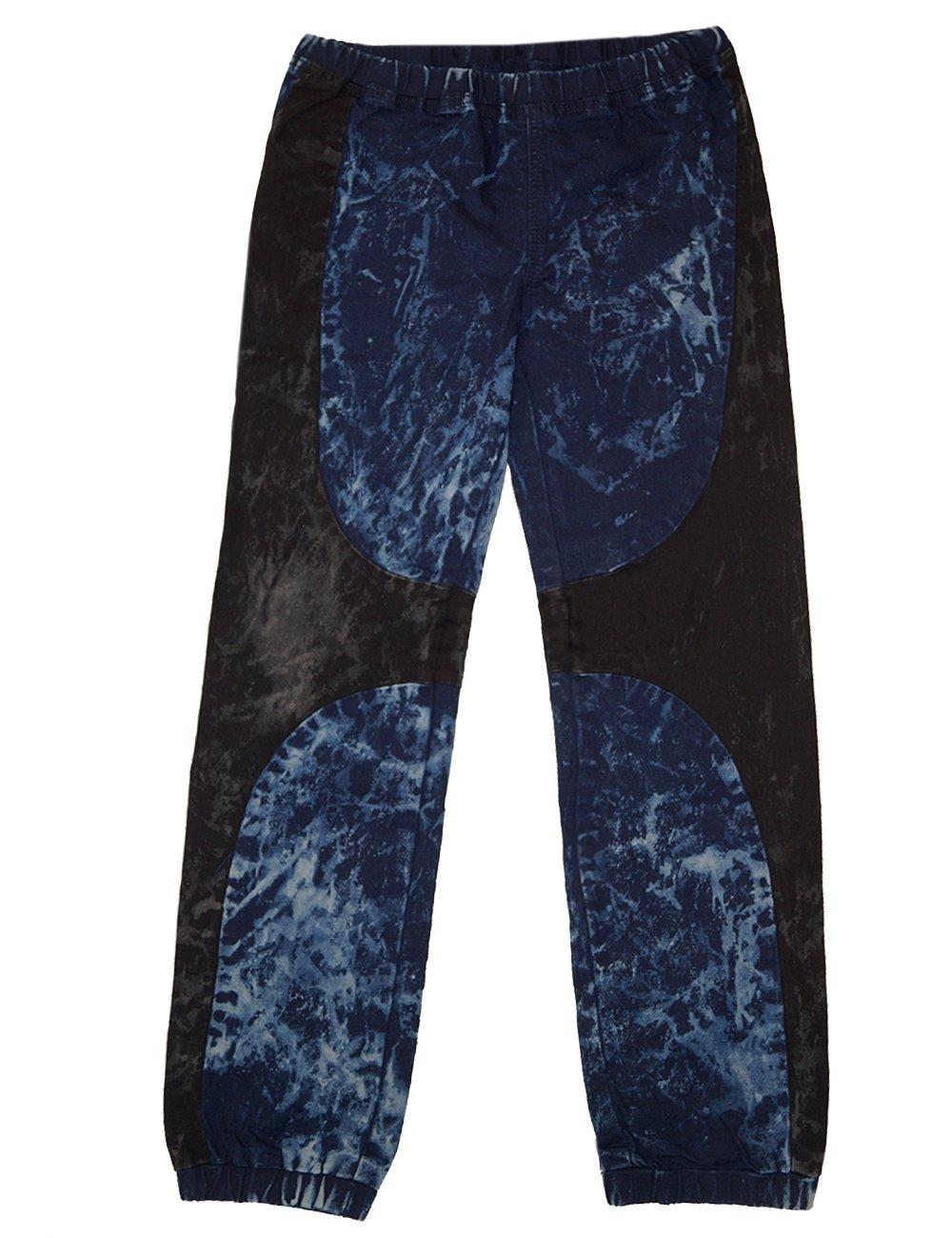 Crest Jeans Big Girls Black Stretchy Waist Ankle Cuff Denim Jeans 8-10