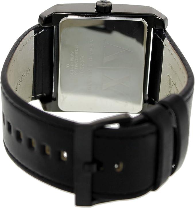 Amazon.com: Armani Exchange Black Dial Black Leather Mens Watch AX2205: Armani Exchange: Watches
