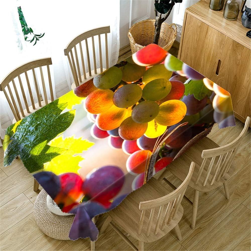DHHY Poliéster Mantel Impreso en 3D Impresión de UVA Tela de Mesa de Café A Prueba de Polvo decoración del Hogar Mantel Individual Color de La Foto 80X180cm: Amazon.es: Hogar