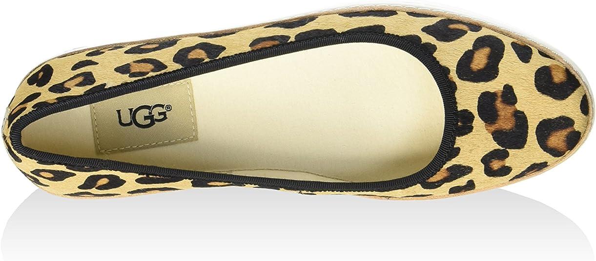 UGG Australia Ballerina Kammi Calf Hair Leopardo EU 36 (US 5