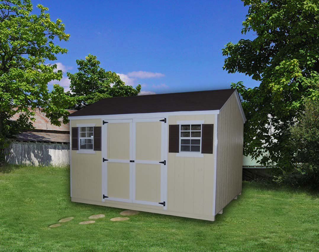 Little Cottage Company Value Workshop 10'x16' Precut Shed Kit