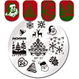 Born Pretty Nail Art Stamping Plate Christmas Snowflake Santa Claus Christmas Tree Stocking Nail Art Stamping Image Plate 01