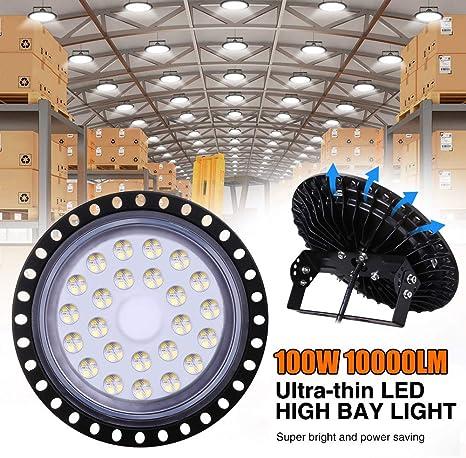 100W UFO LED High Bay Light Factory Warehouse Lighting Industrial GYM Work Lamp