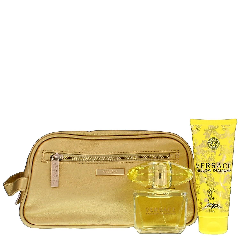 Yellow Diamond by Versace Gift Set Spray Edt Sray 3 oz   Body Lotion 3 4 oz