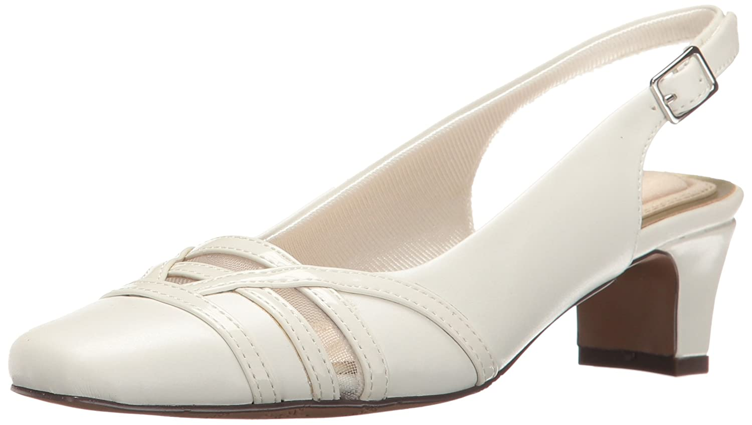 Easy Street Women's Kristen Dress Pump B01N5UD4VB 7 2A(N) US|White/Patent