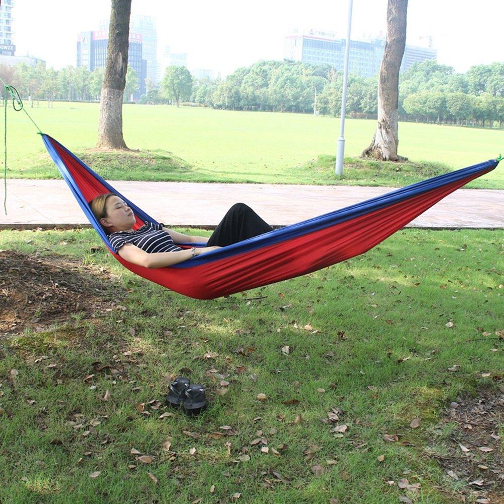 Hängematte Outdoor Freizeit 260  140 cm Parachute Tuch Doppelt Freien Ultraleicht Tragbar Innen- Freizeit Swing Ultralight Bequeme